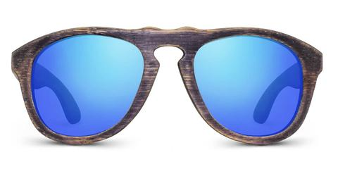 Madison | Woodgrain Blk + Blue
